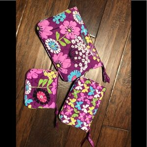 Set of three Vera Bradley purses